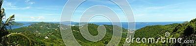 Caribbean island scenic