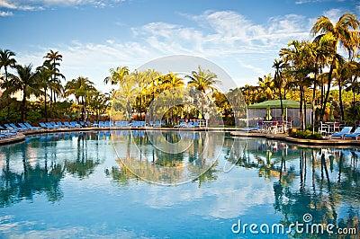 Caribbean Paradise Pool Luxury Tropical Resort