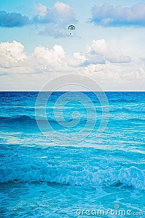 Caribbean sea in Cancun, Mexico Editorial Image