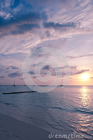 Caribbean Sea at Dawn