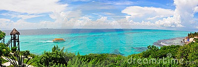 Caribbean sea panorama, Mexico