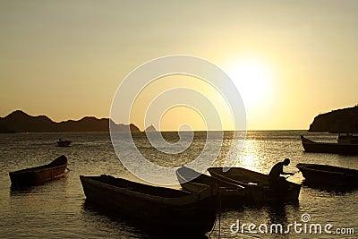 Caribbean Sea. Taganga Bay. Colombia.