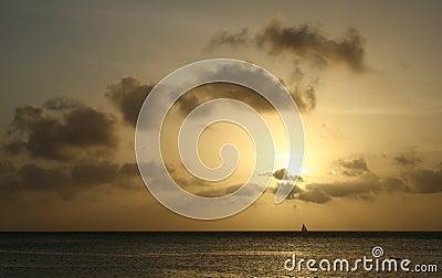 Caribbean Sunset sails