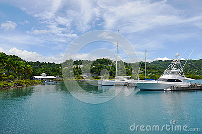 Caribbean Tropical marina