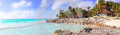 Caribbean Tulum Mexico tropical panoramic beach
