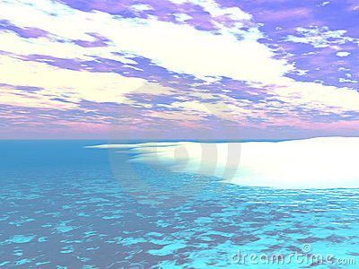 Caribbean Water s Edge - 3D Illustration
