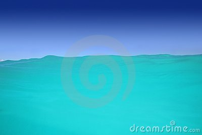 Caribbean wave turquoise water