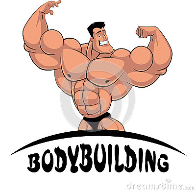Caricature bodybuilder stock vector image 52461325 - Cartoon body builder ...