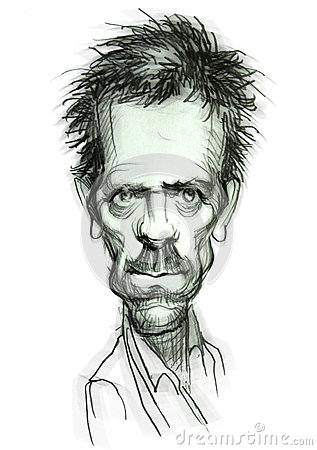 Caricature of Dr. House Editorial Image
