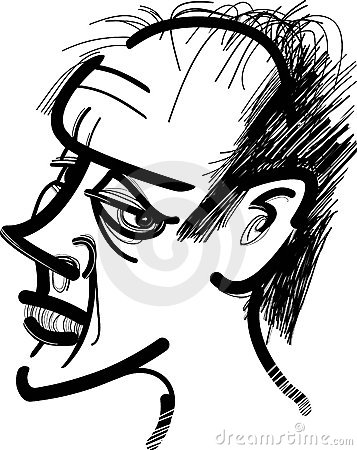 Caricature of man