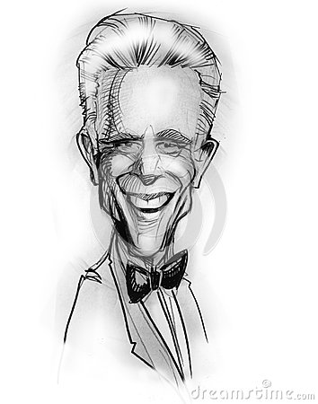 Caricature of Ted Danson (actor) Editorial Photography