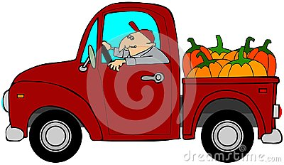 Carico di camion delle zucche