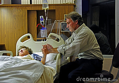 Caring Hands in Hospital