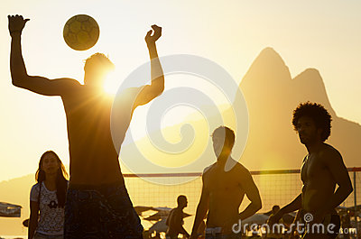 Carioca Brazilians Playing Beach Football Altinho Editorial Stock Photo
