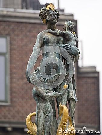Free Caritas Well, Copenhagen Stock Photo - 61883880