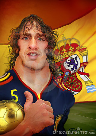 Carles Puyol Caricature Editorial Image