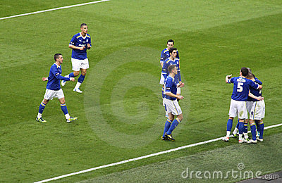Carling Cup - Cardiff celebration Editorial Stock Photo