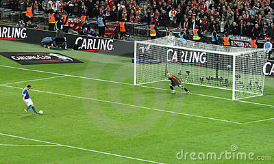Carling Cup final - Cardiff penalty Editorial Photo