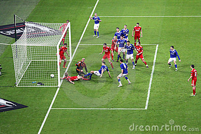 Carling Cup final - Cardiff scores Editorial Photography