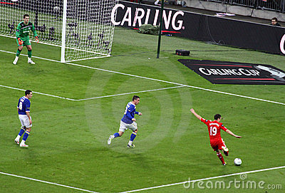 Carling Cup final - Downing strike Editorial Photo