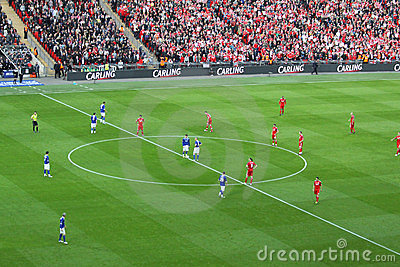 Carling Cup final - Kick Off Editorial Photo