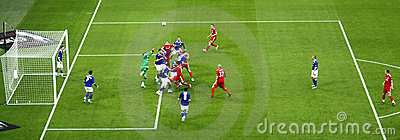 Carling Cup final - Panoramic action Editorial Stock Image