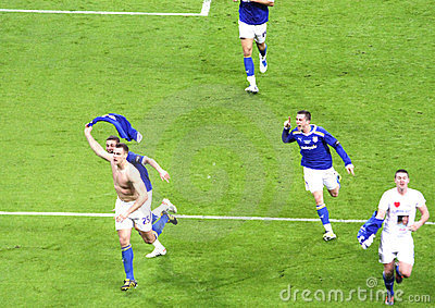 Carling Cup final - Turner last goal celebration Editorial Stock Photo