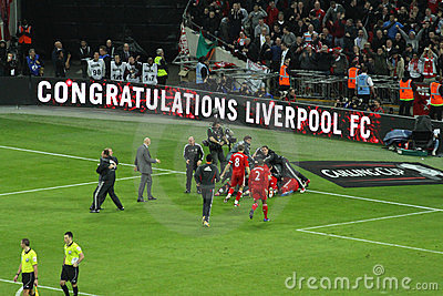 Carling Cup - Liverpool celebration Editorial Stock Image