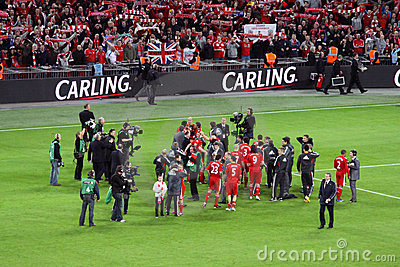 Carling Cup - Liverpool celebration Editorial Photo