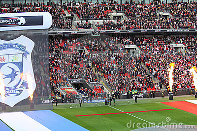 Carling Cup - Liverpool entrance Editorial Photography
