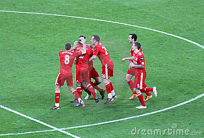 Carling Cup - Liverpool FC celebration Editorial Stock Photo