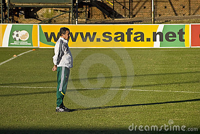 Carlos Alberto Parreira - Bafana Bafana Head Coach Editorial Photo