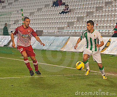 Carlos Caballero from match league Cordoba-Girona Editorial Stock Photo