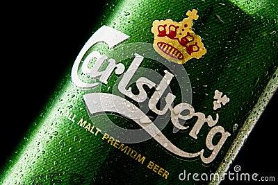 Carlsberg beer Editorial Photo