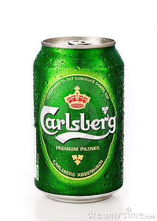 Carlsberg can Editorial Photography