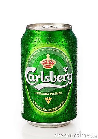 Carlsberg can Editorial Photography