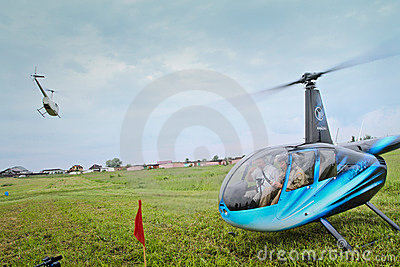 Carlson Cup-2011 Competitions on helicopter sports Editorial Image
