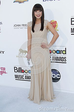 Carly Rae Jepsen at the 2012 Billboard Music Awards Arrivals, MGM Grand, Las Vegas, NV 05-20-12 Editorial Stock Image