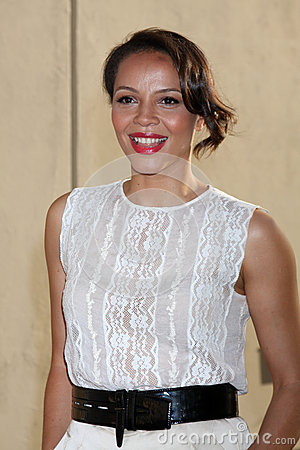 Carmen Ejogo arrives at the ABC / Disney International Upfronts Editorial Stock Photo
