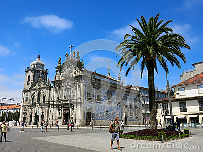Carmo and Carmelitas Churches in Porto Editorial Photo