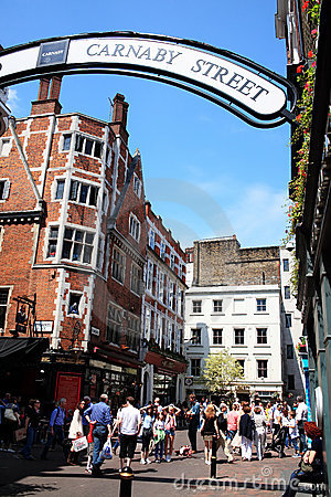 Carnaby Street London Editorial Stock Photo