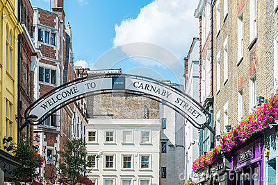 Carnaby street in London Editorial Image