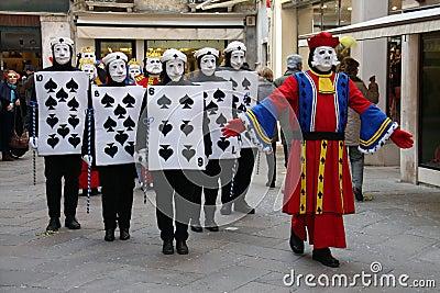 Carnaval da edição 2009 de Veneza Imagem Editorial