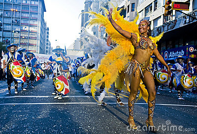 Carnaval in Montevideo Editorial Stock Photo