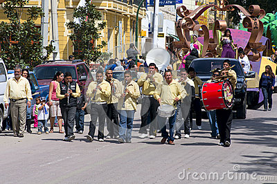 Carnaval Parade in Chapala Mexico Editorial Image