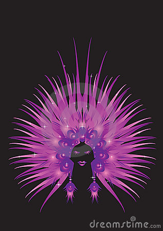 Carnaval queen purple