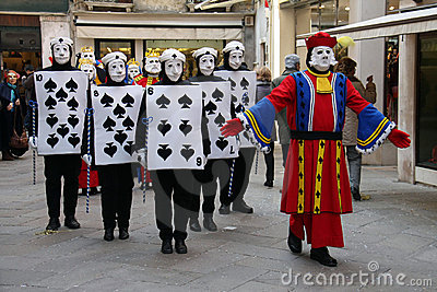 Carnevale dell edizione 2009 di Venezia Immagine Editoriale