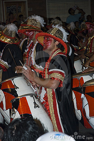 Carnival band in Montevideo, Uruguay, 2008. Editorial Stock Photo
