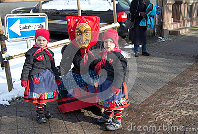 Carnival in the Black Forest, Germany Editorial Stock Photo