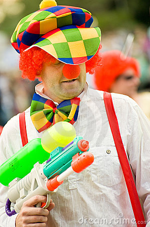 Carnival clown Editorial Stock Image